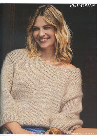 January Jones Featured in Red Magazine with Dana Levy Multi Tassel Beaded Bracelet