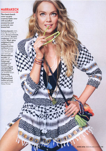 Red Magazine Dana Levy Beaded Tassel Duo Necklace