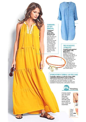 The Sunday Post featuring Dana Levy's Seashell Charm Duo Nautical Cord Anklet.