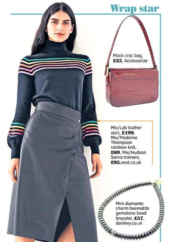 The Sunday Post featuring Dana Levy's Mini Diamante Charm Haematite Gemstone Bead Bracelet