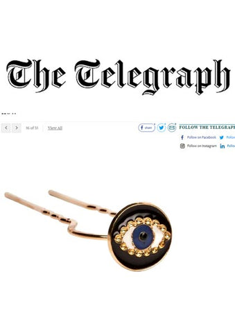 Daily Telegraph featuring Dana Levy Enamel Evil Eye Charm Hair Pin