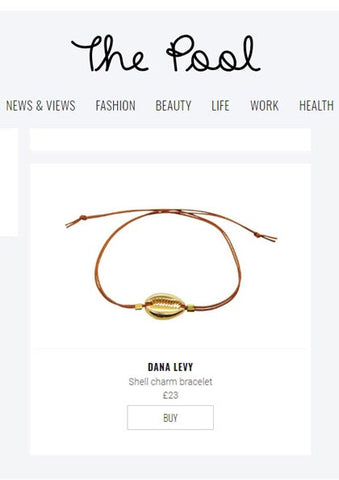 The Pool Website Featuring Dana Levy Midas Seashell Charm Cord Bracelet