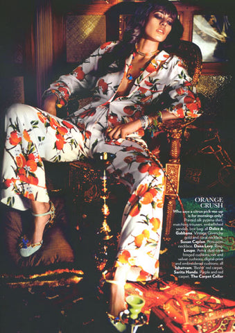 Vogue India Magazine - Featuring Dana Levy Rainbow Pompom Multicolour Lucky Charm Necklace