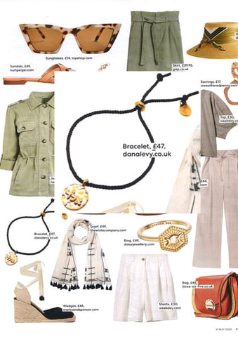 The Mail on Sunday You Magazine featuring Dana Levy Kabbalah Blessing Token Drawstring Cord Bracelet