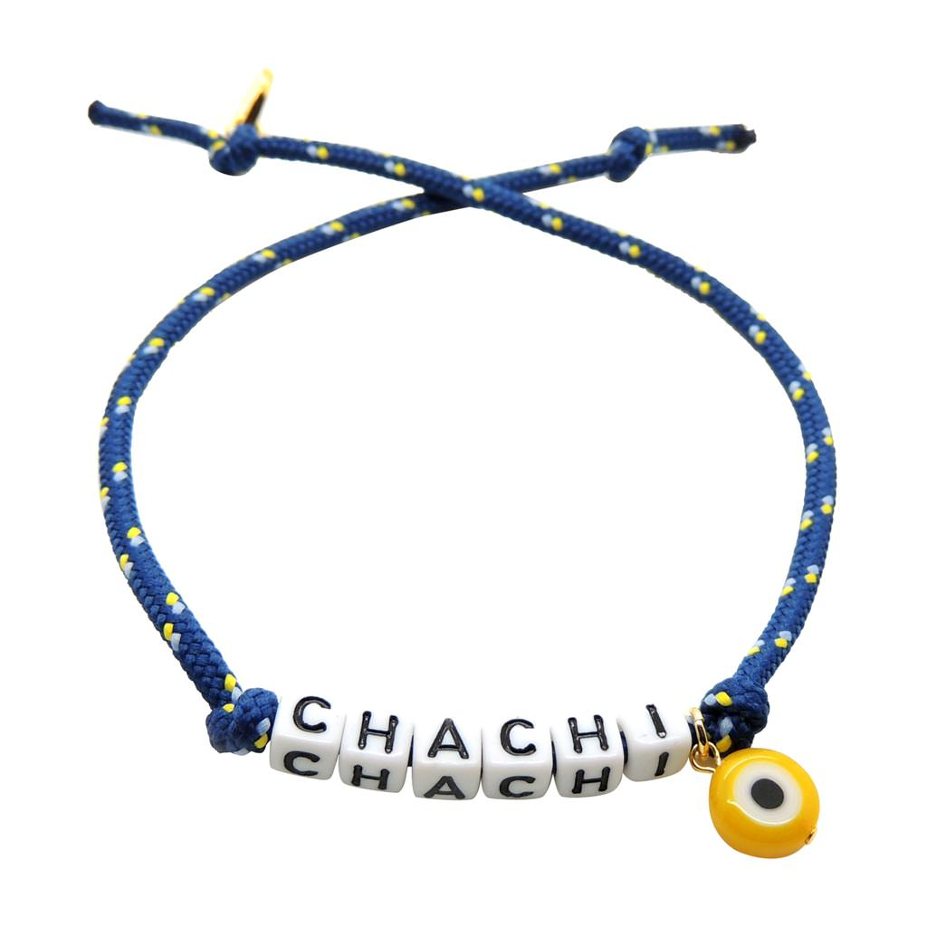 Dana Levy Men s Personalised Name Alphabet Cord Bracelet - Chachi Navy ... ea29d3bbe868