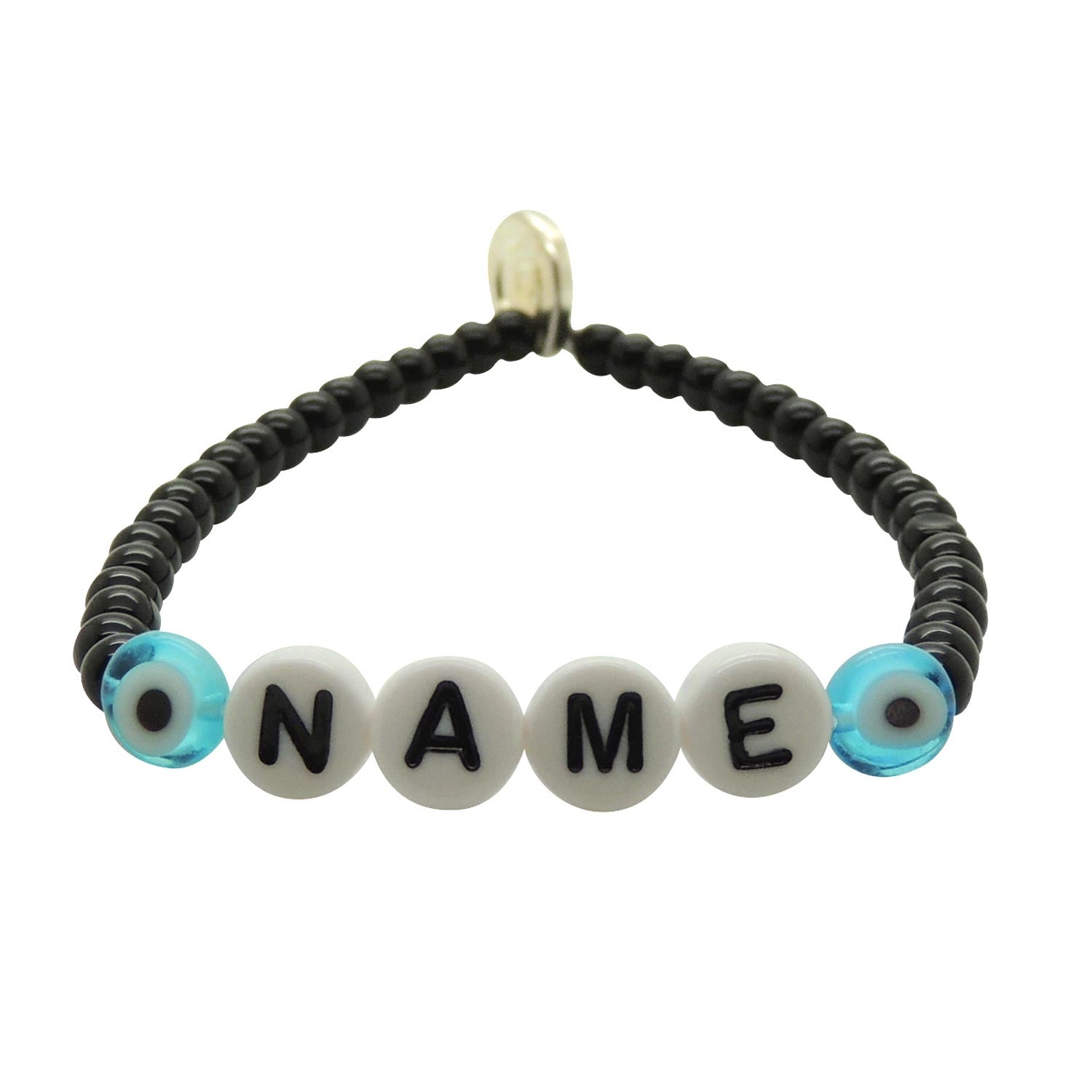 Men s You Name It Personalised Name Glass Bead Bracelet