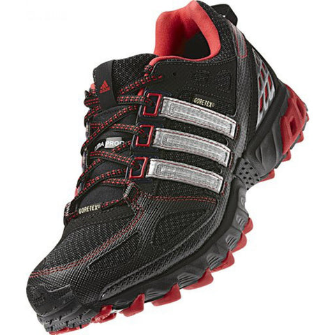 ADIDAS KANADIA TRAIL GTX CREW SHOES - Black/Metallic Silver/Red