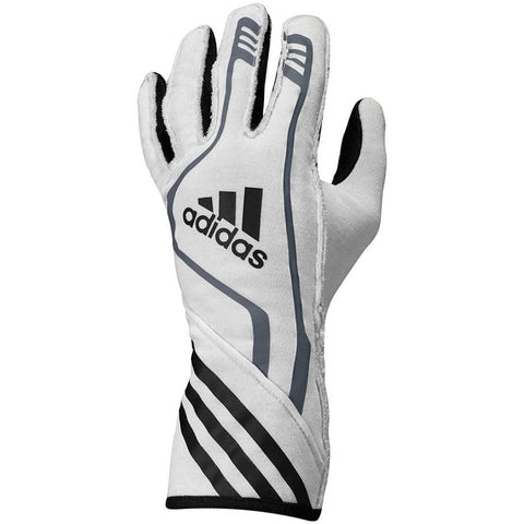 ADIDAS RSR RACE GLOVES - WHITE/BLACK/RED