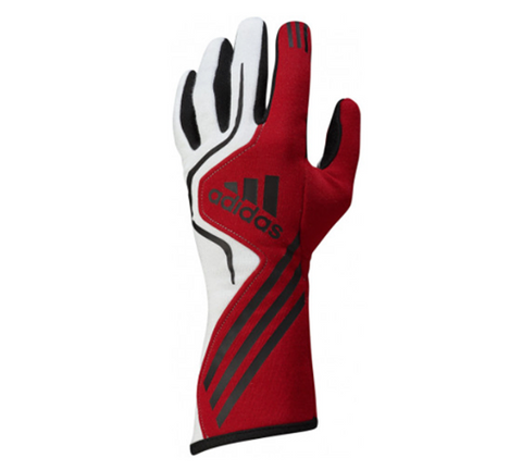 ADIDAS RS RACE GLOVES - RED/WHITE/BLACK