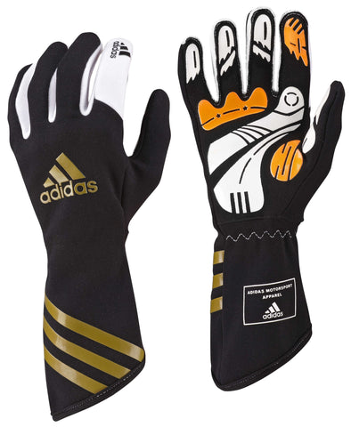 ADIDAS - XLT BLACK/METALLIC GOLD - KART GLOVES