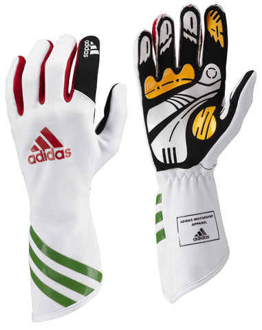 ADIDAS XLT KART GLOVES - White/Intense Green