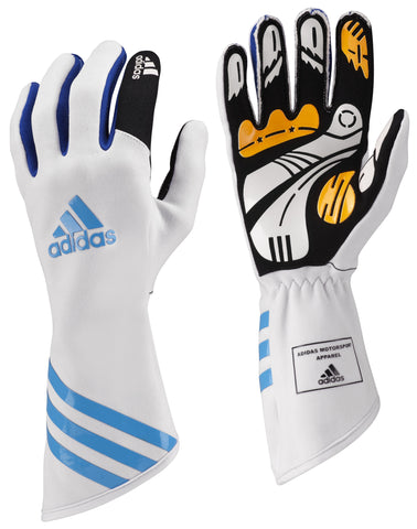 ADIDAS XLT KART GLOVES - White/Blue