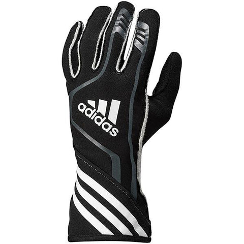ADIDAS RSR RACE GLOVES - BLACK/GRAPHITE/WHITE