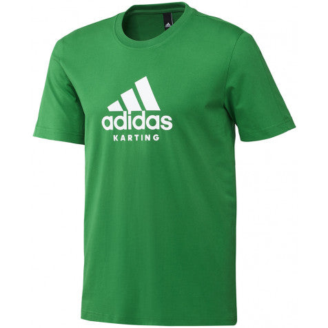 ADIDAS KARTING TEE GREEN/WHITE