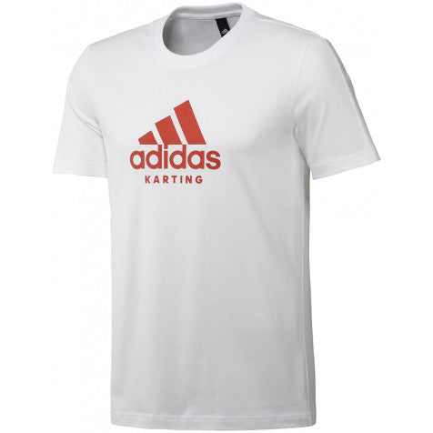 ADIDAS KARTING TEE WHITE/RED