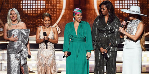 Photo of Lady Gaga, Alicia Keys, Michelle Obama, Jennifer Lopez at Grammy Awards
