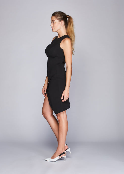 Charley dress black side view.