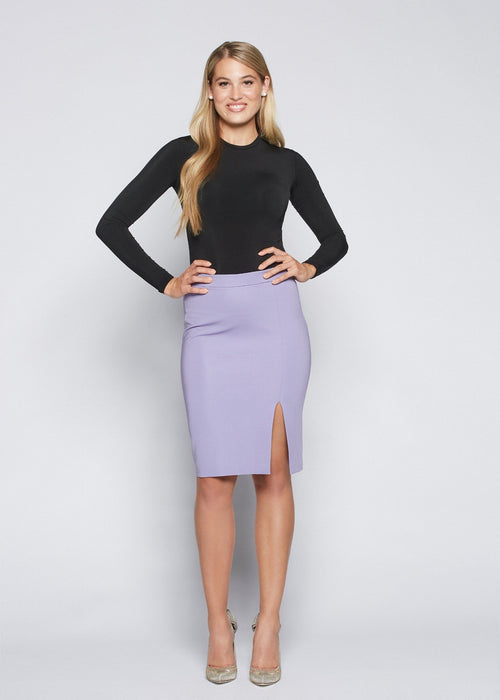 Jennifer skirt lilac front view.