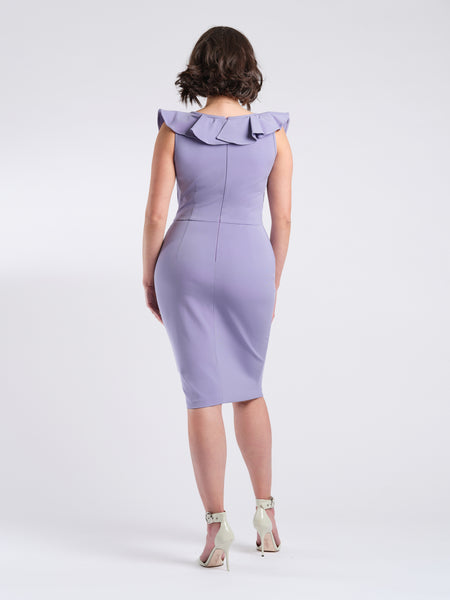 Mara dress lilac back.
