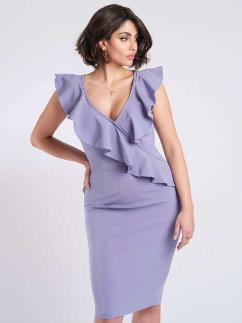 Mara dress lilac front detail
