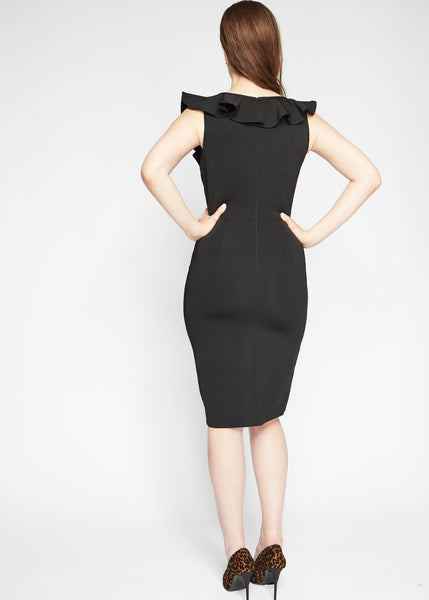 Mara dress black back view.
