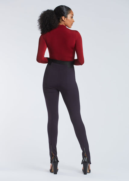 Cindy trousers dark plum back view.