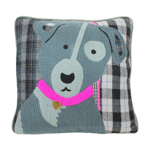 Beth Jordan Cushion Henry Dark Grey 45x45cm