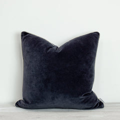 also home unari indigo velvet cushion 50x50cm