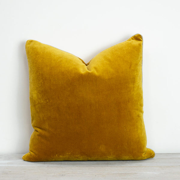 Also Home Unari Turmeric Velvet Cushion 50x50cm