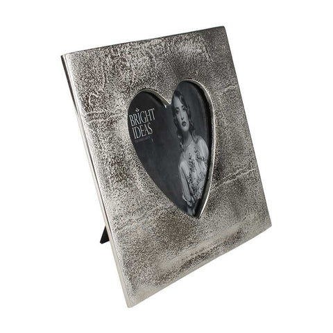 Aluminium Heart Photo Frame 5 x 7""