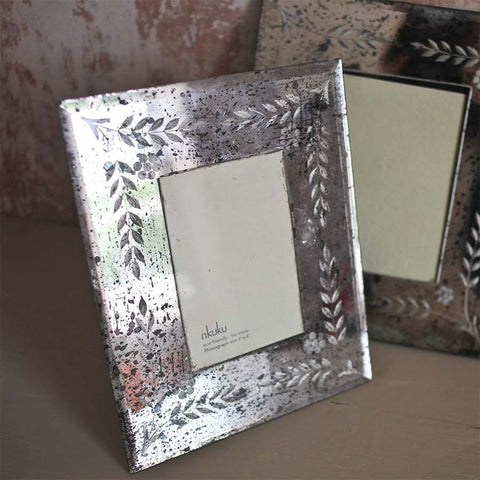Nkuku Antique Mirrored Photo Frame