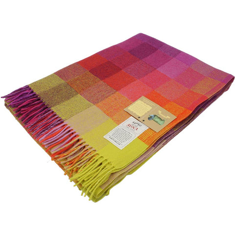 Avoca Lambswool Throw Spectrum Jellybean