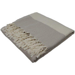 Nkuku Ayla Throw Beige Natural