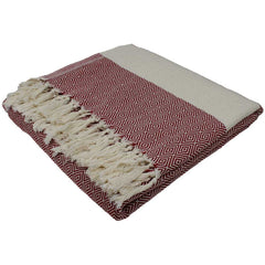 Nkuku Ayla Throw Burnt Red Natural