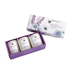 Beefayre Bee Calm Lavender & Geranium Votive Candle Gift Set