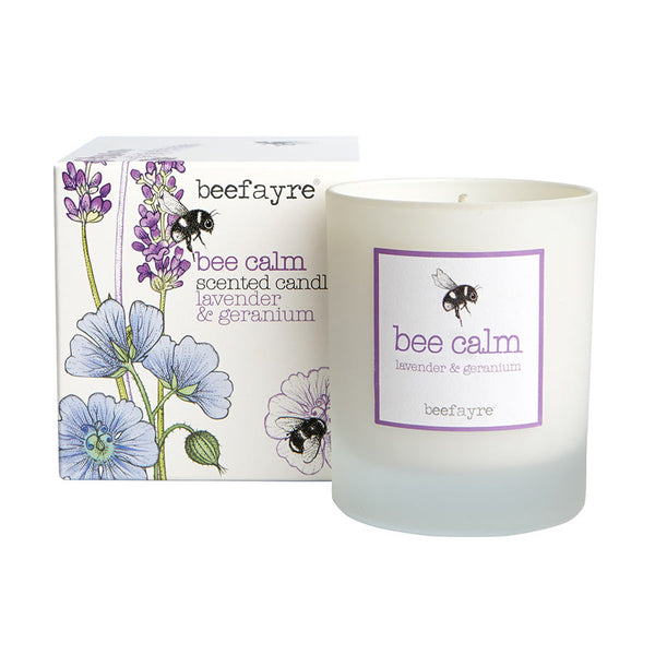 Beefayre Bee Calm Lavender & Geranium Large Candle