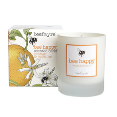 Beefayre Bee Happy Orange & Jasmine Large Candle