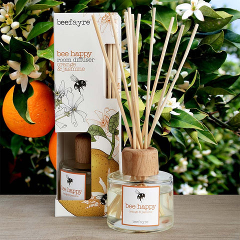 Beefayre Bee Happy Orange & Jasmine Room Diffuser
