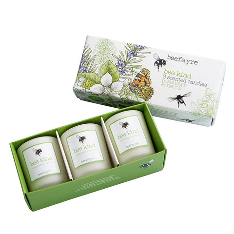Beefayre Bee Kind Rosemary & Neroli Votive Candle Gift Set