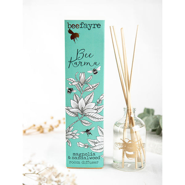 Beefayre Bee Karma Magnolia And Sandalwood 100ml Room Diffuser