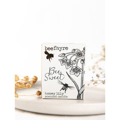 Beefayre bee sweet honey lily large candle