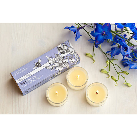 Beefayre Bluebell & Wood Anemone Scented Glass Tea Lights