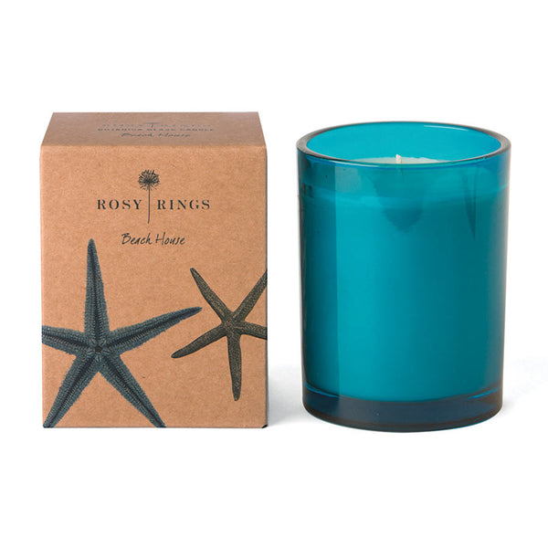 Rosy Rings Botanical Glass Candle - Beach House 85Hr