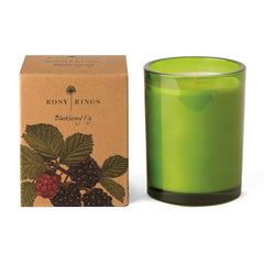 Rosy Rings Botanical Glass Candle - Blackberry Fig 85Hr