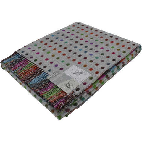 Bronte Throw Multi Spot Grey Multi