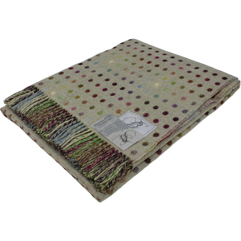 Bronte Throw Multi Spot Pistachio