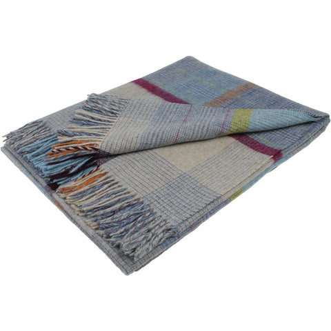 Bronte Throw Patchwork - Aqua Blue