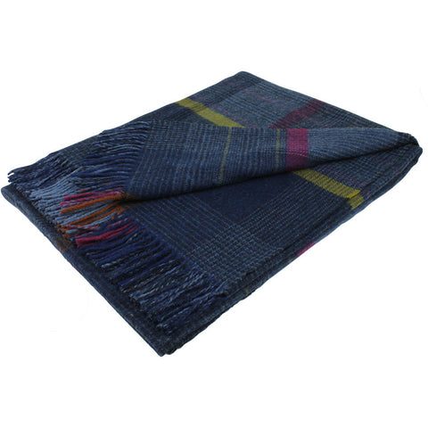 Bronte Throw Patchwork - Denim