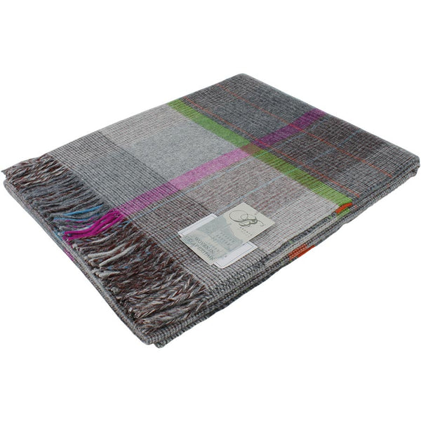 Bronte Throw Patchwork - Grey