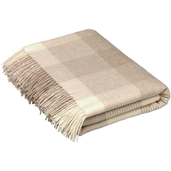 Bronte Throw Blanket Check Beige